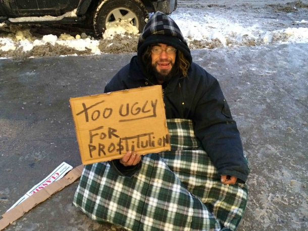 8cd1184960b found this awesome hobo today in Montreal - Meme Guy