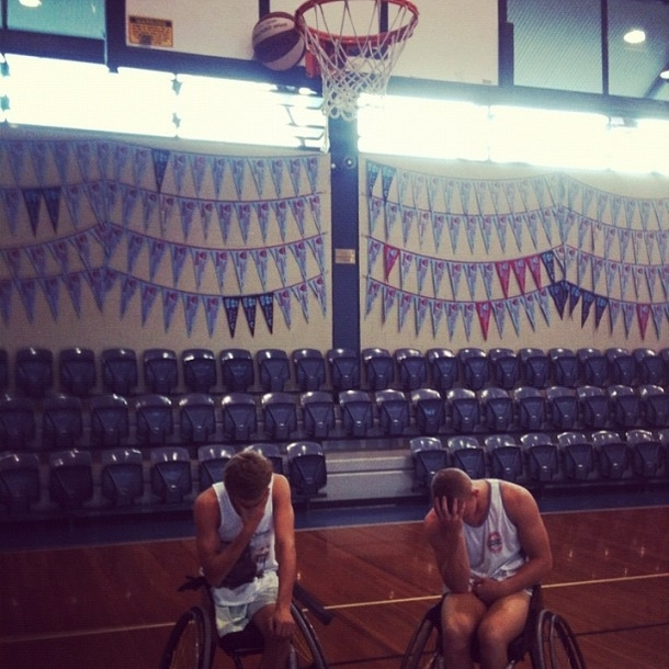 Friend just posted this on Facebook Every wheelchair basketballers worst nightmare