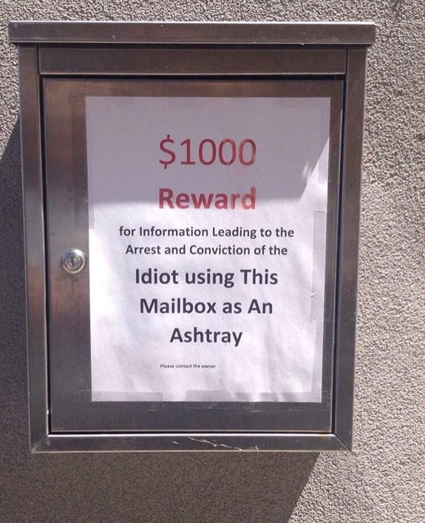 Friend saw this attached to someones mailbox