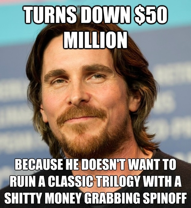 good guy christian bale lets give him some credit 37011 whats the big deal guys meme guy
