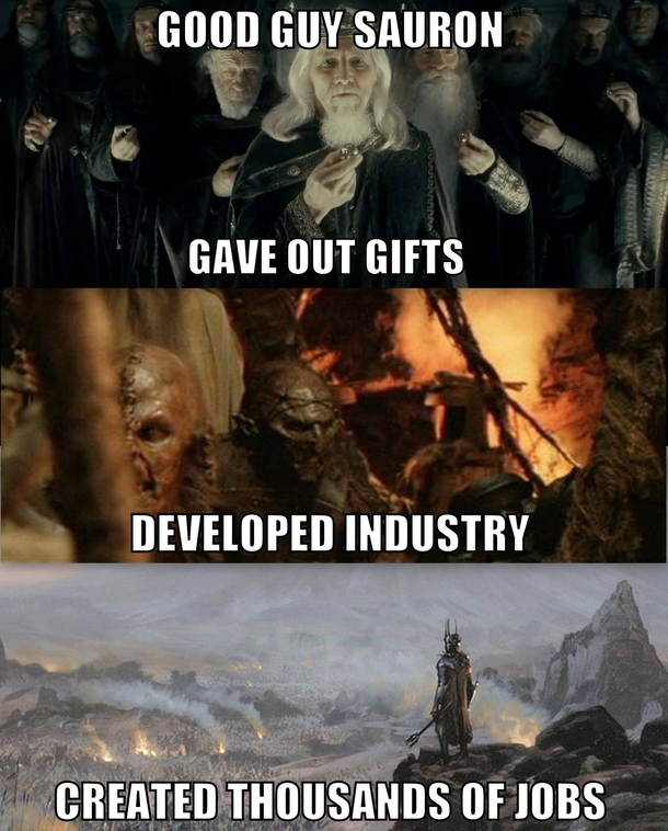 Tolkien's Meme Good-guy-sauron-162007