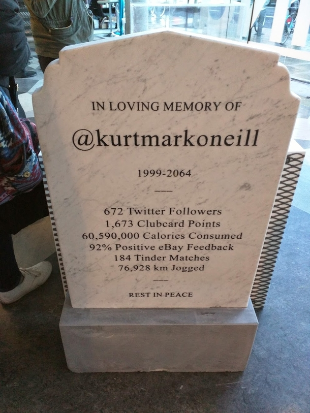 Headstone of the future