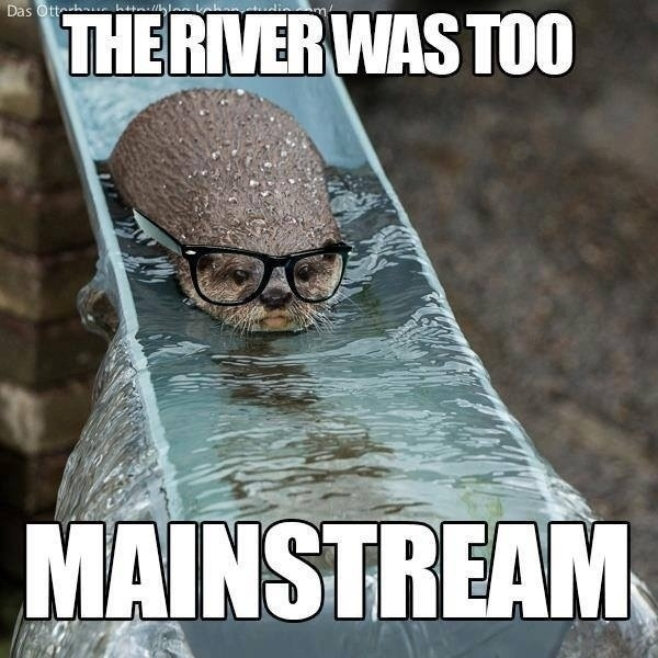 Hipster in nature - Meme Guy
