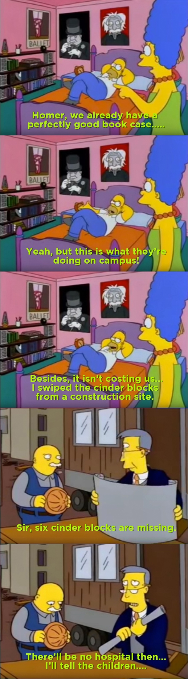 Homers dorm room inspired furniture