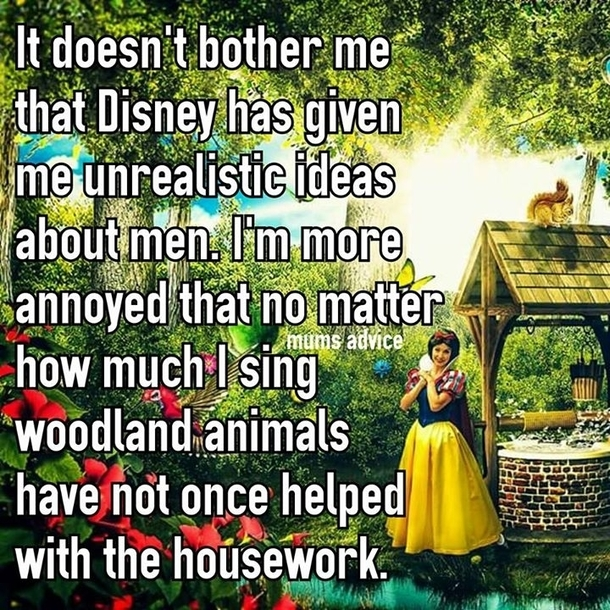 Guy Cleaning Kitchen: Housework Disney Style