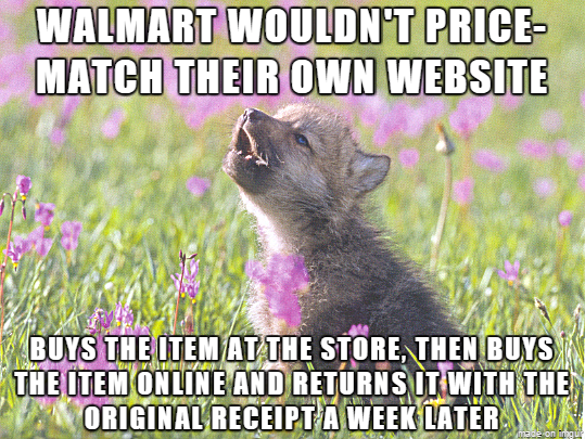 I didnt want to wait two hours for Walmart employees to get the order ready for in-store pickup and  is