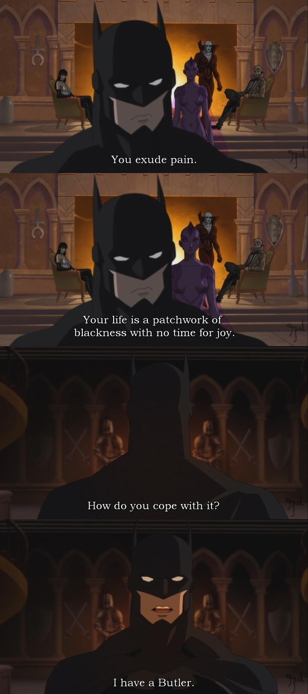 I dont think Ive ever laughed at anything Batman said
