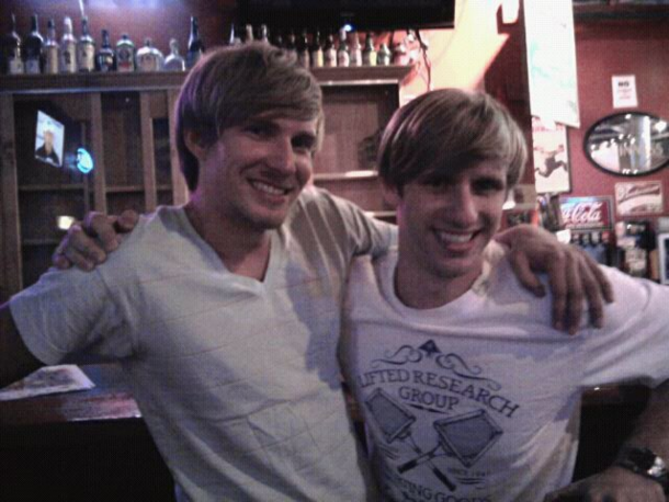 I met my twin brother from another mother at the bar His name is Adam and he also like beer
