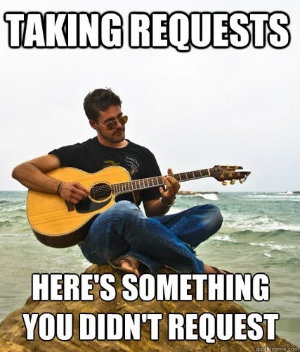 I miss the old memes like Douchebag Guitarist