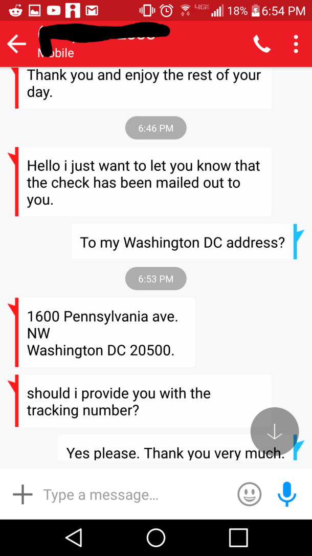 Checks By Mail >> I Scam Scammers By Having Them Mail Checks To The White
