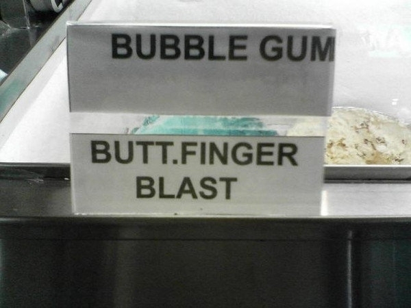 I think Ill choose bubble gum thanks