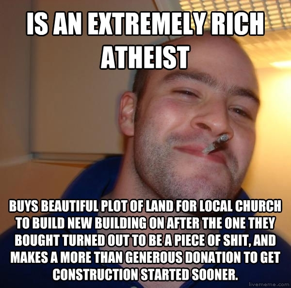 i tip my hat to this man he is a good person and gets all my respect i present good guy atheist 34811 i tip my hat to this man he is a good person and gets all my