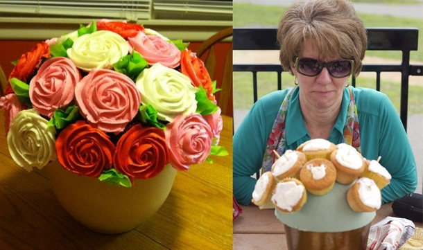 I tried making a cupcake bouquet for my mom for mothers day last year At least they tasted good Im sorry mom