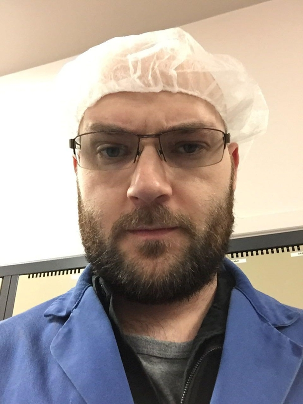 i was forced to wear a hairnet at work dont worry about the beard 259775 i was forced to wear a hairnet at work dont worry about the beard