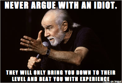 I wonder what George Carlin thinks about Ann Coulter AMA