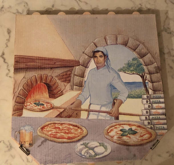 If my local dner place is any indication George Clooney makes most of his money modeling for pizza boxes