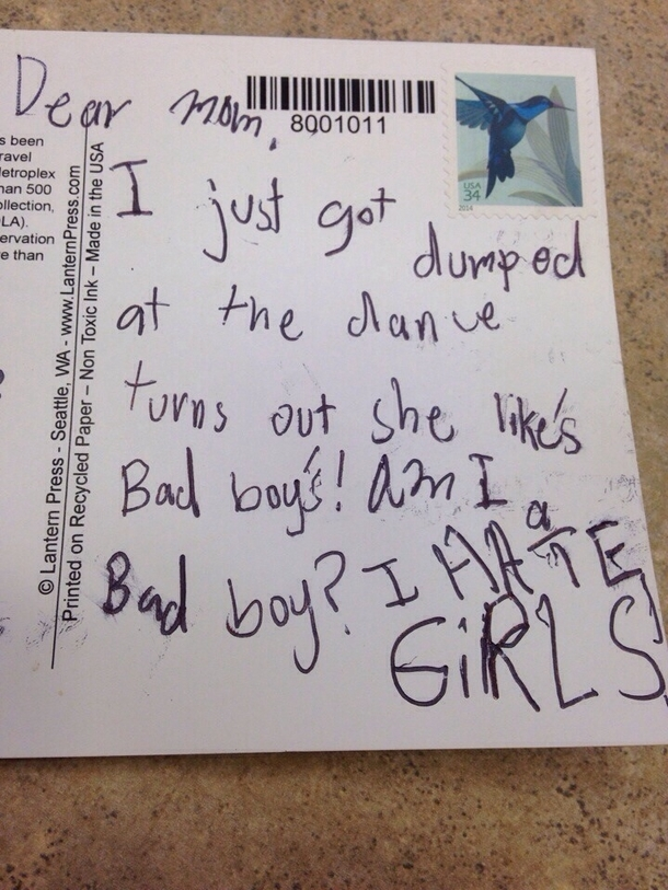 Im a counselor at a summer camp and one of my kids was not happy with being rejected at the dance