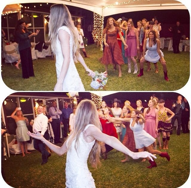 Im a little alarmed at how eager my girlfriend was to catch the bouquet at my sisters wedding