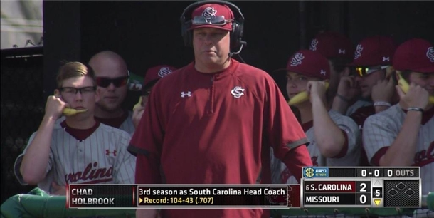 Important conference call went down in the South Carolina dugout today