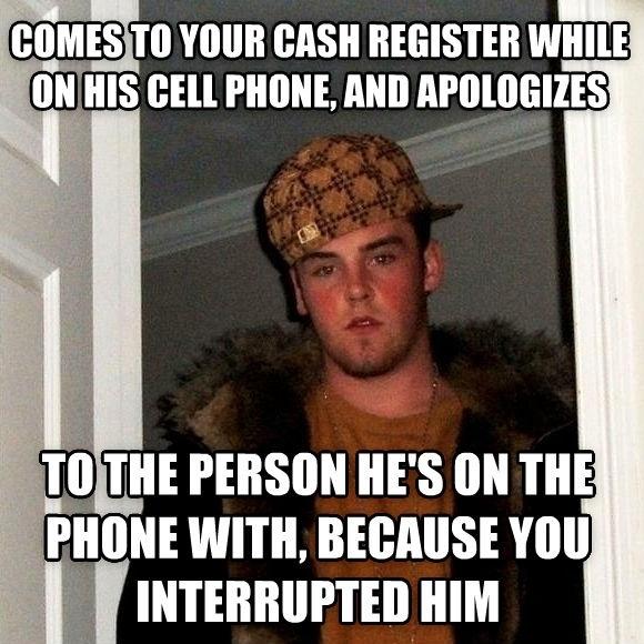 working in customer service