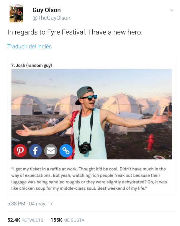In regards to fyre festival