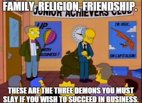 Inspirational Mr Burns