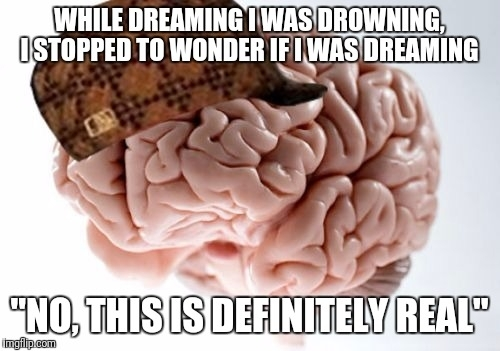 It was like the opposite of a lucid dream