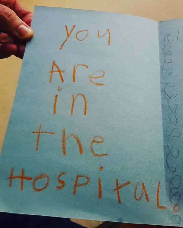 Its My Dads Birthday Today And Hes In The Hospital Nephew Made Him This Card