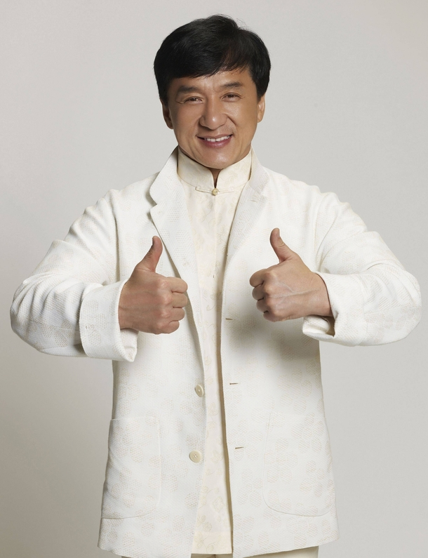 Jackie Chan and his stunt double - Meme Guy