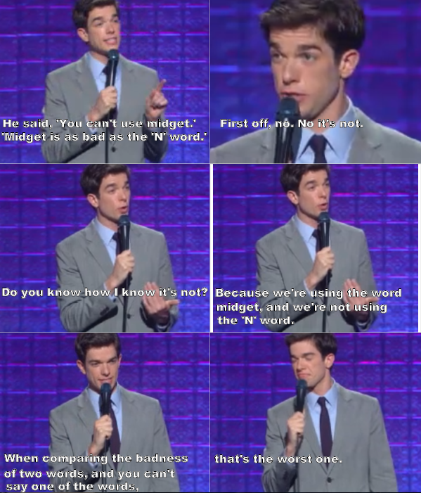 Best Comedy Quotes Of All Time: John Mulaney Explains Which Word Is Worse
