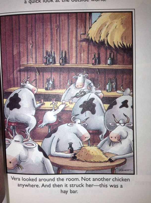 Just rereading my Far Side books and found this gem that my younger self never caught the meaning of