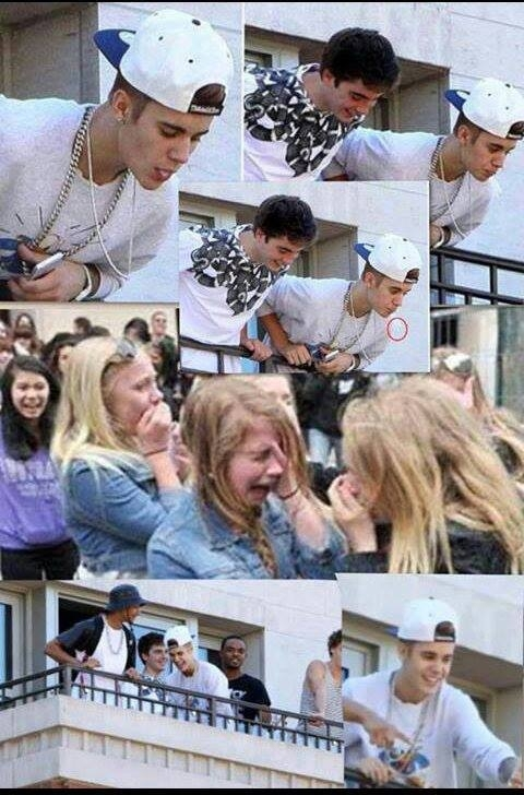 Justin spitting on fans He doesnt want this to go viral x-post from rpics