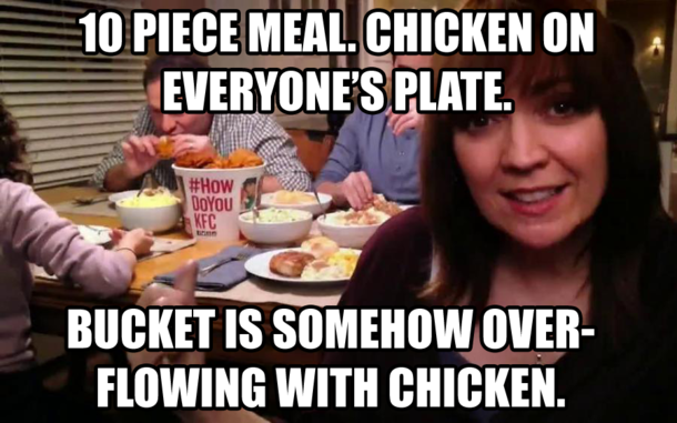 Kfc Guy Funny: KFC Logic This Bugs Me Every Time I See One Of Their