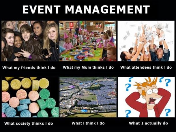 Restaurant manager memes life as an event manager