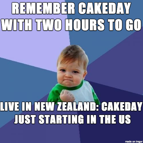 Living in New Zealand has its advantages