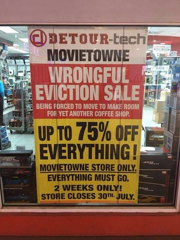 Local electronic shop is not pleased about having to move