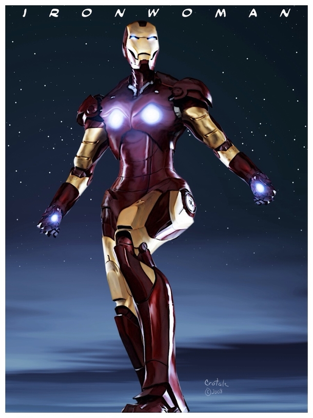 looked up iron woman because I was curious what the uni-beam projector would look like on the chest