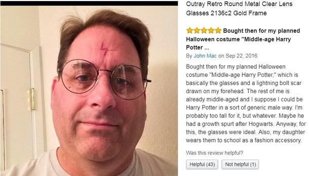 a56ff6e98 Man reviews clear lens glasses - nothin but net - Meme Guy