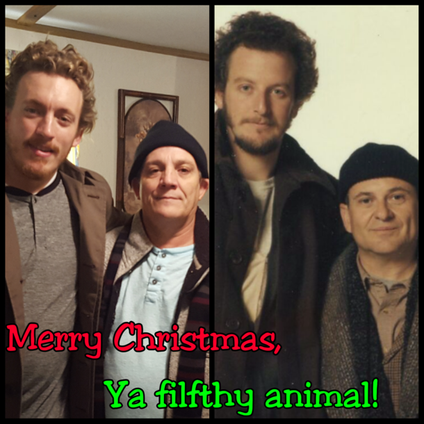 Me and my Dad want to say Merry Christmas Ya filfthy animal