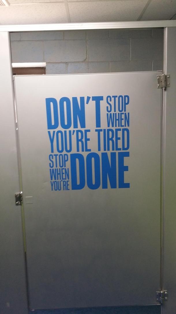 Motivational Bathroom Stall Door Meme Guy
