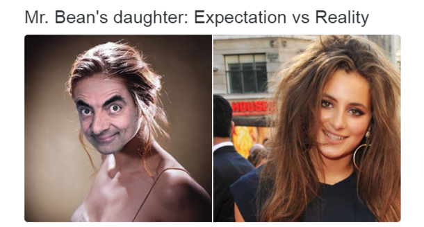 Mr Beans daughter