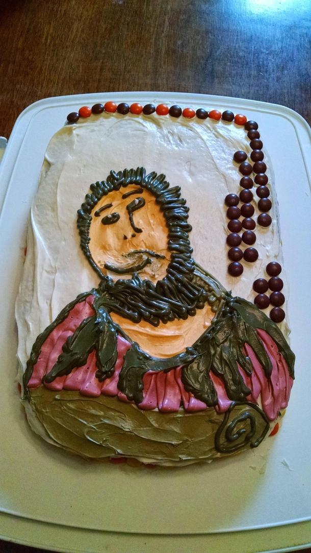 Jesus Birthday Cake Images : My boyfriend said he wanted a Reeses Pieces Rhesus Jesus ...