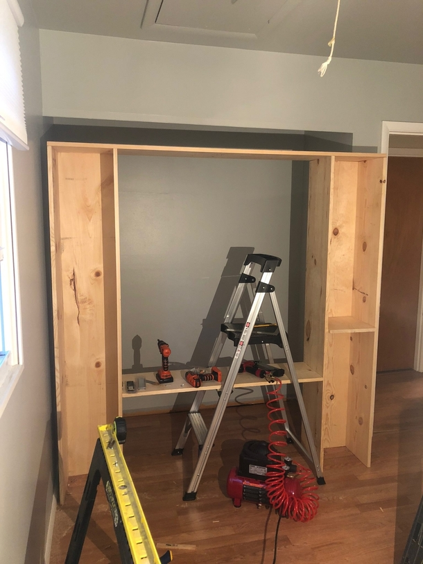 My brother in law was so proud of the shelves he built