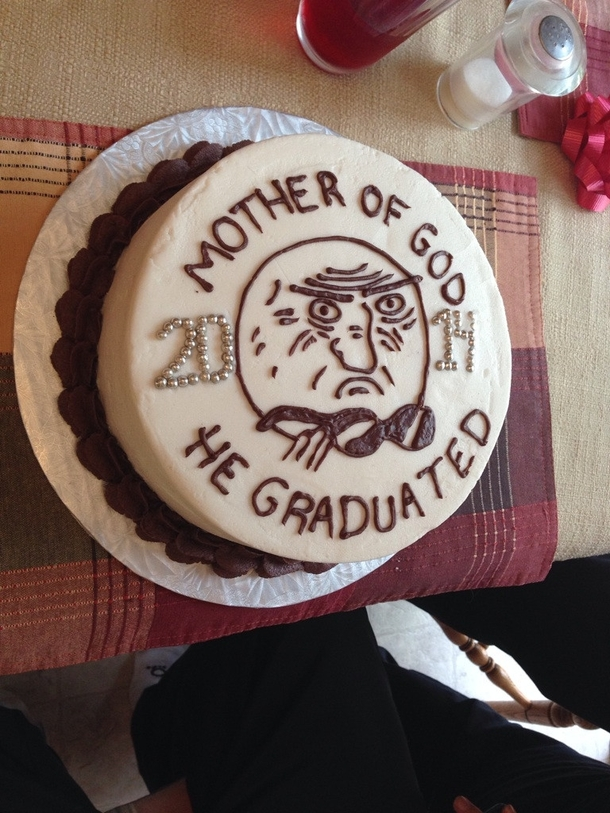 My Brothers Graduation Cake Thank You Reddit Meme Guy