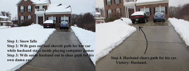 My cousins guide to shoveling snow