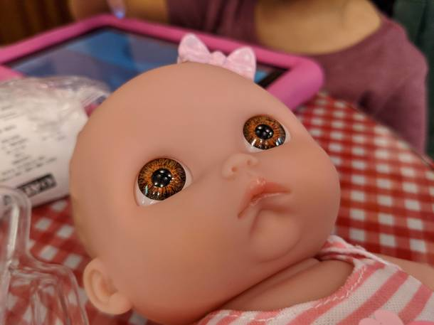 My daughters doll has seen some shit