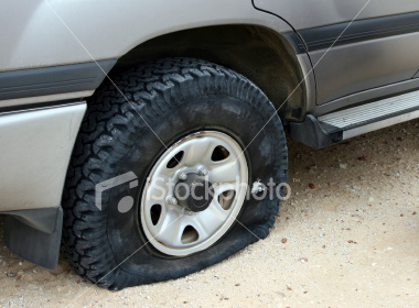 My employee told me that he couldnt get to work because he had a flat tire This is the picture he texted me