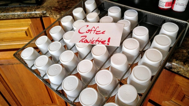 My family isnt happy with my implementation of coffee roulette