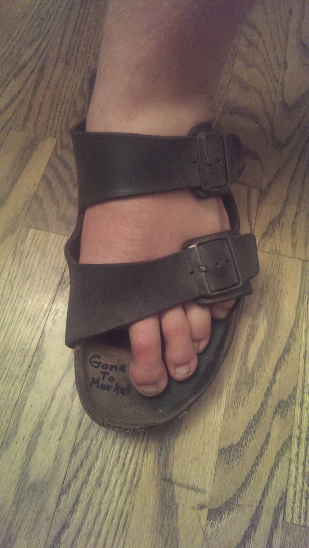 My friend Brad lost his toe in a lawn mower accident I ...