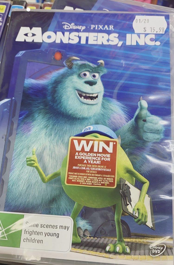 My Friend That Works In Our Media Department Did This To Every Copy Of Monsters Inc Meme Guy